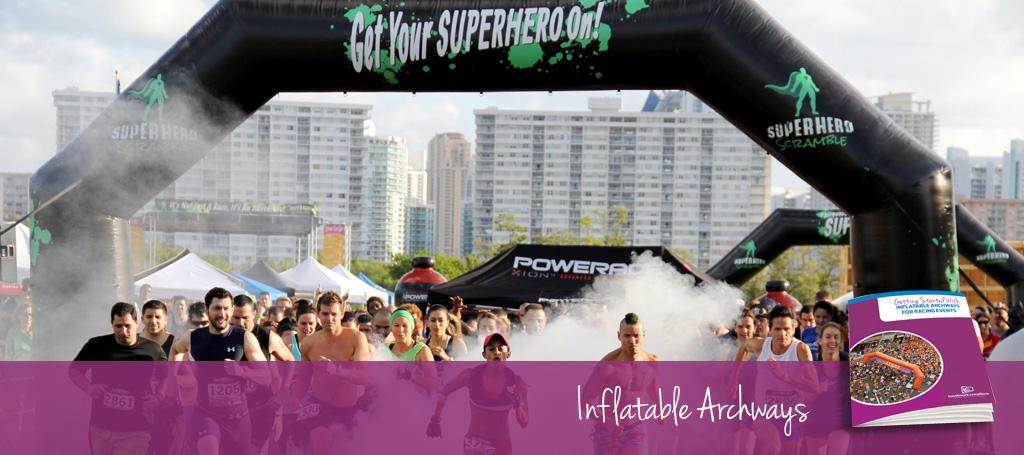 SUPERHERO SCRAMBLE Inflatable Arch